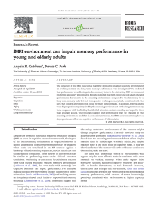 fMRI environment can impair memory performance in young and elderly adults