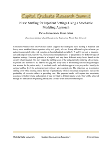 Nurse Staffing for Inpatient Settings Using a Stochastic Modeling Approach
