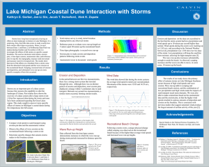 Lake Michigan Coastal Dune Interaction with Storms Methods Abstract
