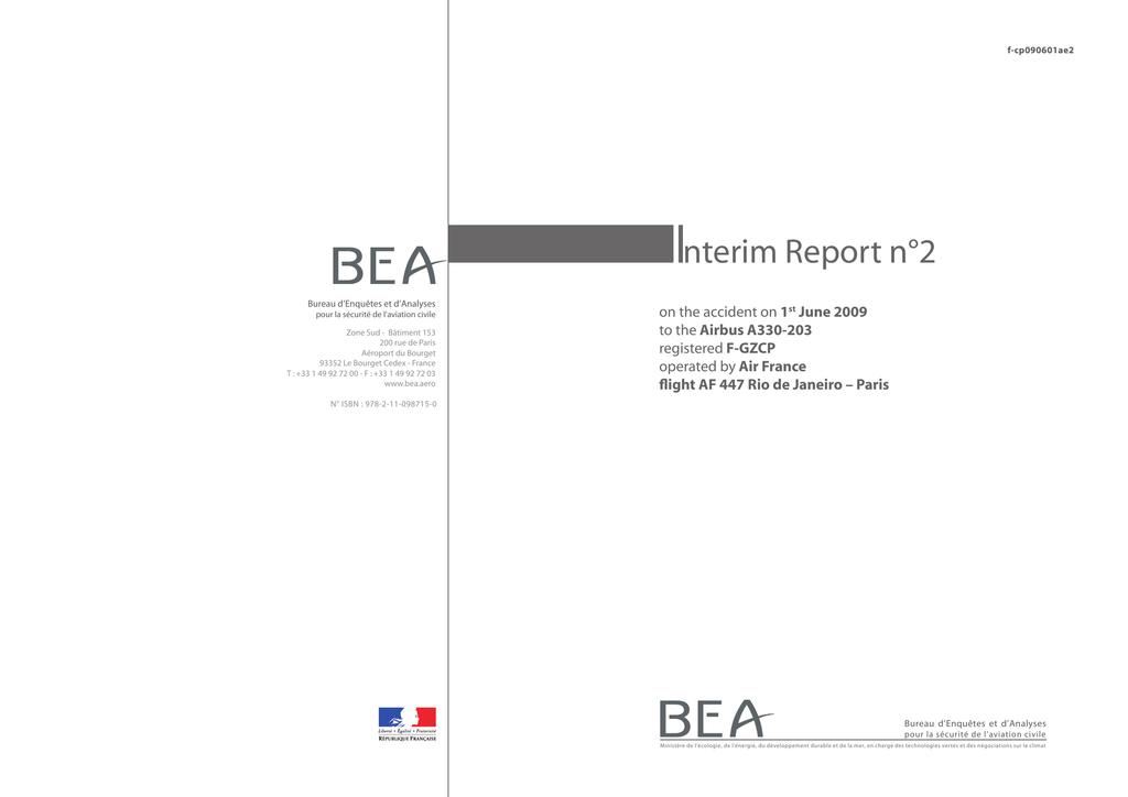 I nterim Report n°2 1 Airbus A330-203