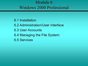 Module 6 Windows 2000 Professional