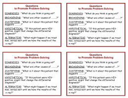 Questions to Promote Problem-Solving
