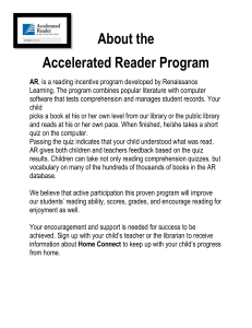 About the Accelerated Reader Program