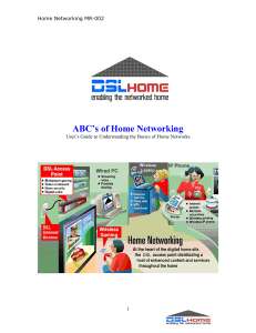 ABC's of Home Networking  Home Networking MR-002