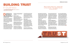 D BUILDING TRUST in business by