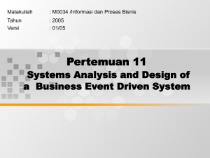 Pertemuan 11 Systems Analysis and Design of Matakuliah