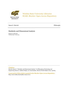 State University Libraries Wichita Shocker Open Access Repository SOAR: