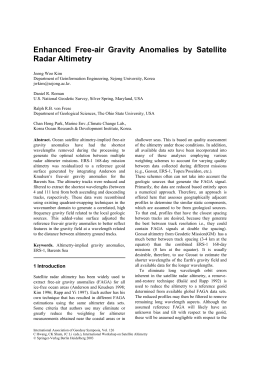 Enhanced Free-air Gravity Anomalies by Satellite Radar Altimetry