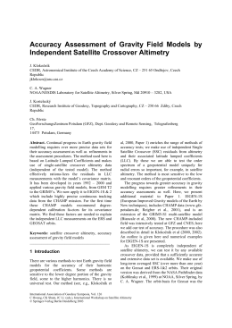 Accuracy Assessment of Gravity Field Models by Independent Satellite Crossover Altimetry