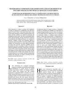 MICROHABITAT CONDITIONS FOR GERMINATION AND ESTABLISHMENT OF