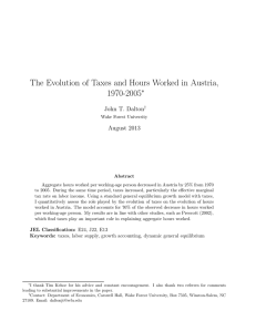 The Evolution of Taxes and Hours Worked in Austria, 1970-2005 ∗