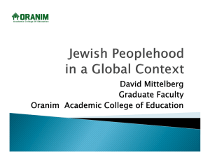 David Mittelberg Graduate Faculty Oranim Academic College of Education