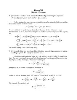    Physics 712 Chapter 5 Problems