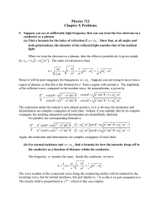 Physics 712 Chapter X Problems