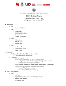 USSEC Meeting Minutes