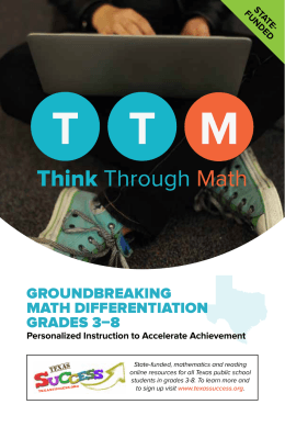 GROUNDBREAKING mAth DIFFERENtIAtION GRADEs 3–8 Personalized Instruction to Accelerate Achievement