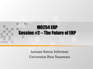 M0254 ERP Session #2 – The Future of ERP Jurusan Sistem Informasi