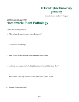Homework: Plant Pathology  CMG GardenNotes #332
