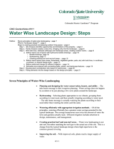 Water Wise Landscape Design: Steps  CMG GardenNotes #411
