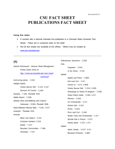 CSU FACT SHEET  PUBLICATIONS FACT SHEET Using this index: