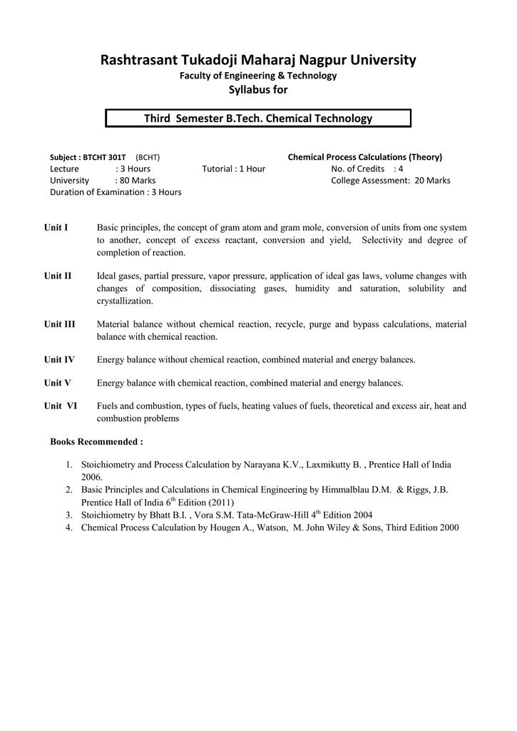 rashtrasant tukadoji maharaj nagpur university syllabus for faculty rh studylib net Solution Stoichiometry Examples Solution Stoichiometry Pathway