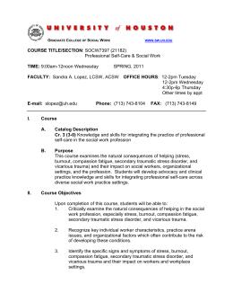 Professional Self Care U0026amp; Social Work 12 2pm Wednesday