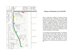 Closure of Entrance to Lot 10A/9C