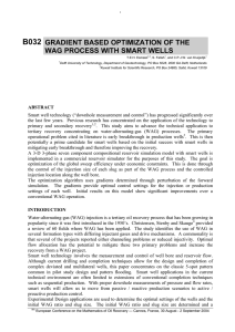 B032 GRADIENT BASED OPTIMIZATION OF THE WAG PROCESS WITH SMART WELLS