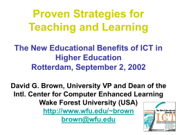 Proven Strategies for Teaching and Learning Higher Education
