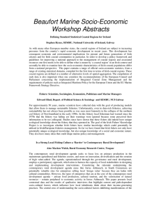 Beaufort Marine Socio-Economic Workshop Abstracts