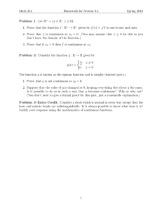 Math 214 Homework for Section 0.5 Spring 2016 Problem 1. Let R