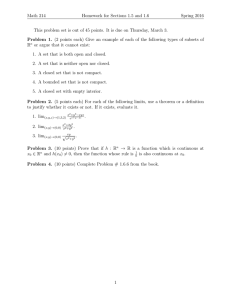 Math 214 Homework for Sections 1.5 and 1.6 Spring 2016