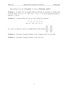 Math 214 Homework for Sections 2.10 and 4.1 Spring 2016