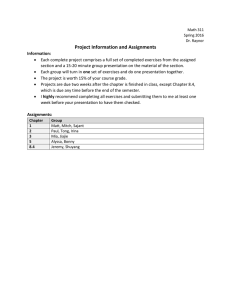 Project Information and Assignments