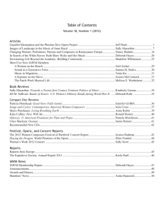 Table of Contents Articles