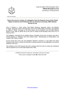 Court of Justice of the European Union PRESS RELEASE No 9/10
