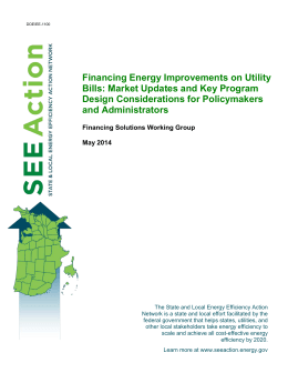 Financing Energy Improvements on Utility Bills: Market Updates and Key Program