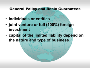 individuals or entities joint venture or full (100%) foreign investment