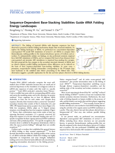 Sequence-Dependent Base-Stacking Stabilities Guide tRNA Folding Energy Landscapes * Li,
