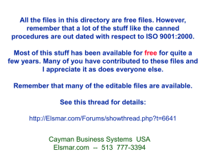 All the files in this directory are free files. However,