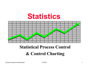 Statistics Statistical Process Control & Control Charting Cayman Systems International