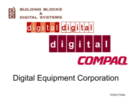 Digital Equipment Corporation Andrej Trebar