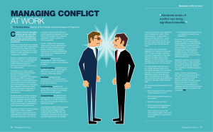 MANAGING CONFLICT  AT WORK C