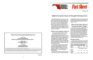 Determining the Value of Drought-Stressed Corn Fact Sheet 483