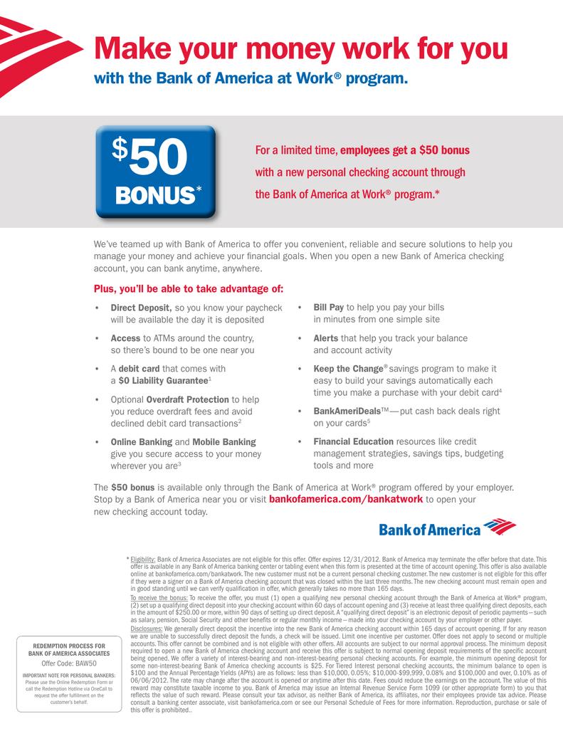 50 Make $ BONUS