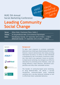 Leading Community Social Change NUIG 5th Annual Social Marketing Conference