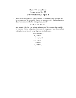 Homework Set 26 Due Wednesday, April 8