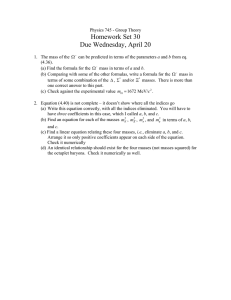 Homework Set 30 Due Wednesday, April 20
