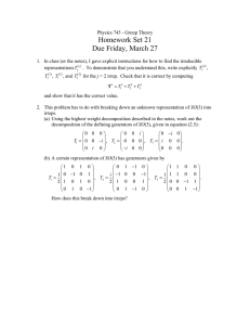 Homework Set 21 Due Friday, March 27