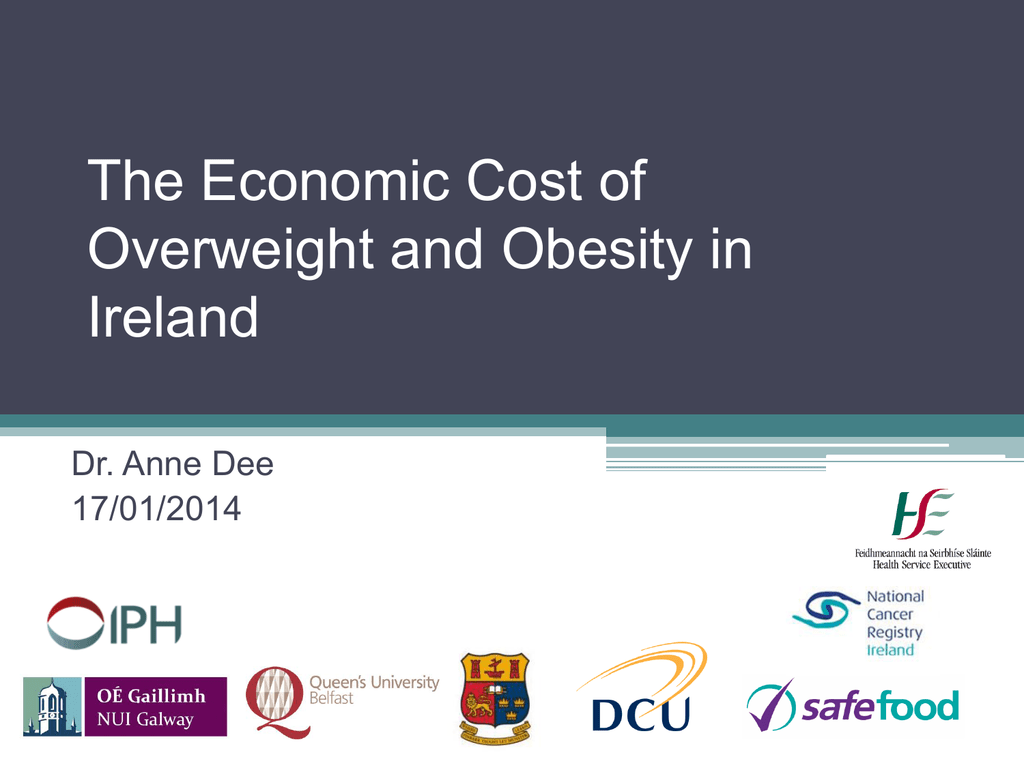 The Economic Cost Of Overweight And Obesity In Ireland Dr Anne Dee